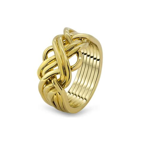 mens gold 6awb m puzzle rings creations