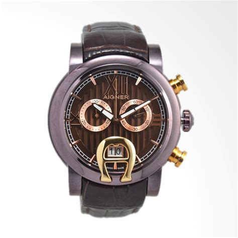 Jam Tangan Swiss Army Priacowok Chronograph Leather Brown jual aigner bari chrono chronograph leather jam tangan