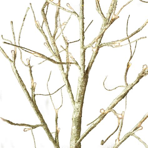 pre lit gold glitter paper twig tree 125cm with 48 warm