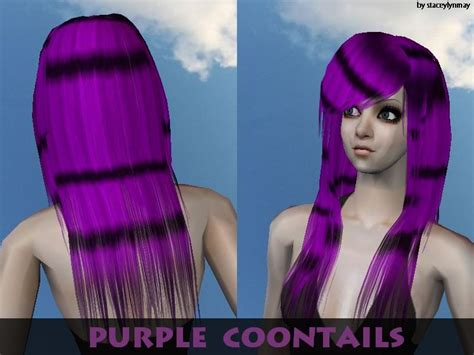 sims 2 emo hair s scene hair purple coontails