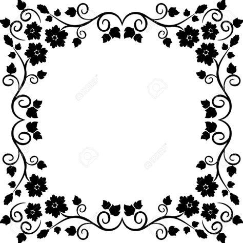 pattern border black and white black and white flower border clipartion com