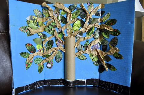 Paper Trees Craft - earth day inspired tree craft i crafty things