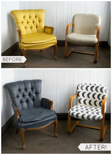 fabric chairs diy furniture and how to paint on
