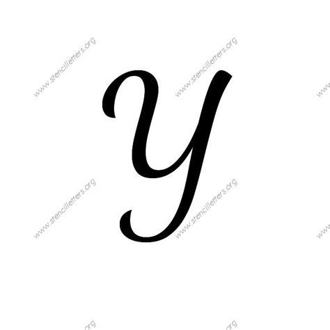 the script y 1950s cursive script uppercase lowercase letter stencils