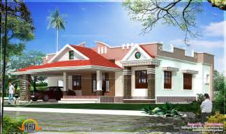 kerala house single floor plans with elevations single storied 2 bedroom house elevation kerala home