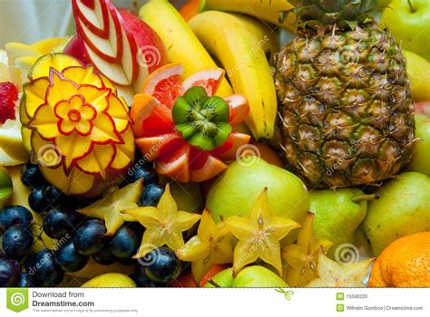 decorative fruit sculpture stock photo image 15590220