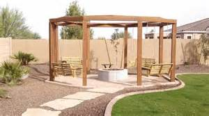 Gazebo With Fire Pit Plans by Fire Pits Designed By Az Living Landscape Call 480 390 4477