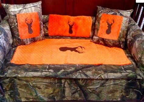 orange camo bedding saftey orange brown buck realtree camo baby bedding for