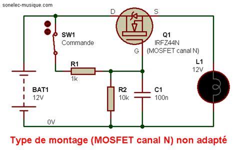 transistor mosfet fonctionnement electronique realisations interfaces logique 001