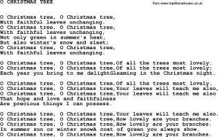 christmas tree songs for kids 5 best images of o tree words printable printable song lyrics o
