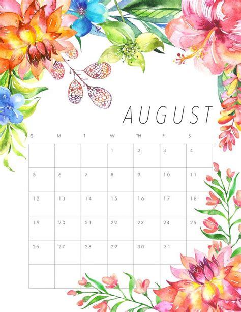 flower design kalender free printable 2018 floral calendar free printable