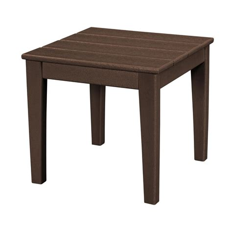 Square Resin Outdoor Side Tables Patio The Home Depot