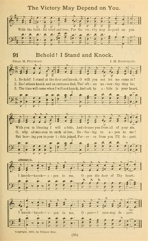 Knock At The Door Song by Behold I Stand At The Door Hymnary Org