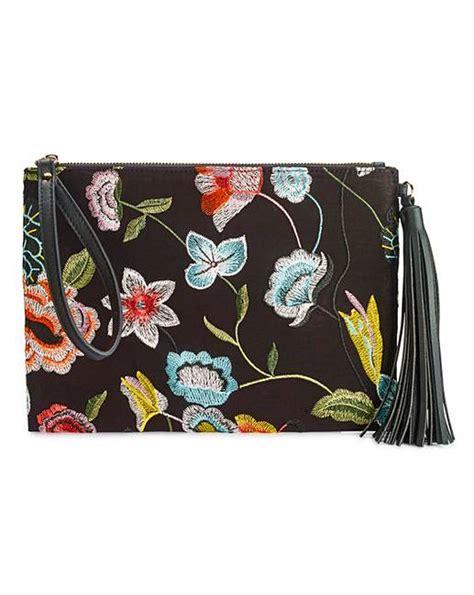 Floral Embroidered Clutch floral embroidered clutch bag simply be