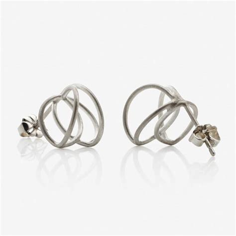 Hana Silver 3cm josephine earrings straussberg