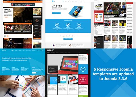 themes joomla 3 3 6 upgrade 5 more responsive joomla templates to joomla 3 3