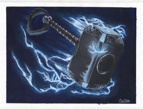 mjolnir the hammer of thor by crisos bdj on deviantart