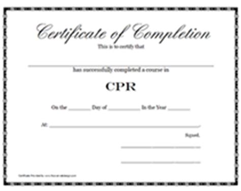 Free Printable Cpr Certification Training Award Certificates Free Cpr Card Template