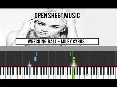 miley cyrus wrecking ball piano tutorial by plutax wrecking ball miley cyrus synthesia midi sheet