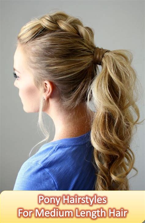 hairstyles for shoulder length hair pony tails pinterest the world s catalog of ideas