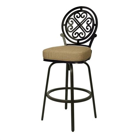 outside bar stools swivel island falls 30 quot outdoor swivel bar stool qlif233239905