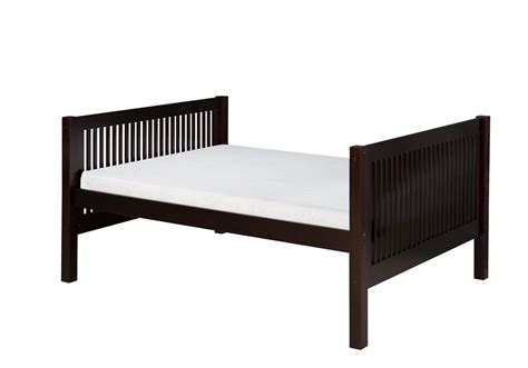 black full size platform bed full size platform bed tall mission style black