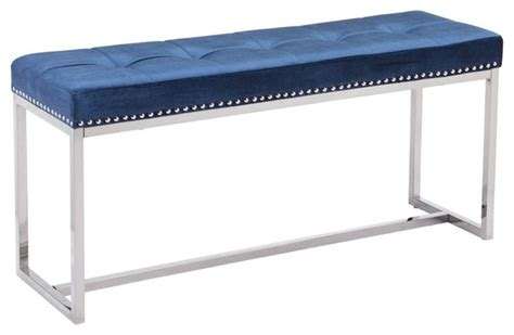blue upholstered bedroom bench synchrony bedroom bench cobalt blue contemporary
