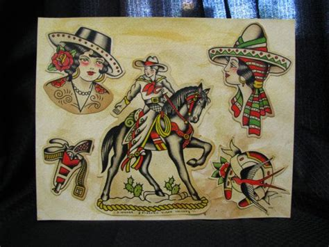 cowgirl pinup tattoos 26 best vintage pinup cowgirls images on