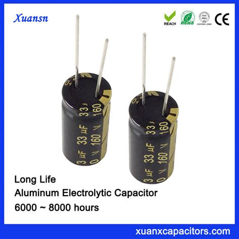 capacitor lifespan hours 160v 33uf 105 8000hours capacitor electrolytic wholesale