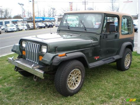 1995 Jeep Wrangler Grande Moss Green Pearl 1995 Jeep Wrangler Grande 4x4