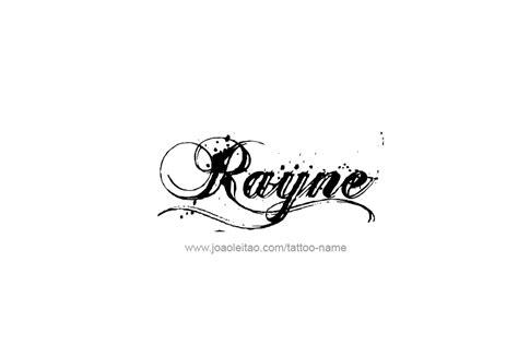rayne name tattoo designs