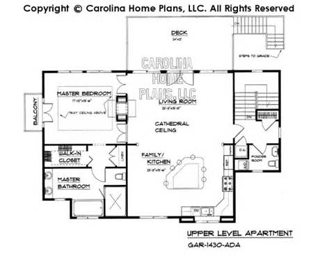 House Plans With Mil Apartment by Small Budget Garage Apartment Plan Gar 1430 Ad Sq Ft