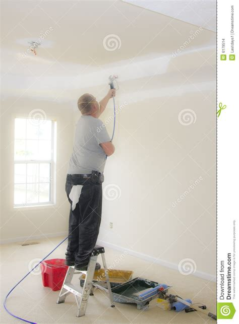 spray painter contract painter spray painting stock images image 6179514