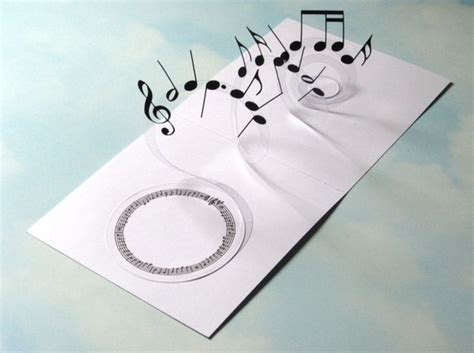 spiral pop up card template free musique carte spirale pop up notes de musique 3d carte