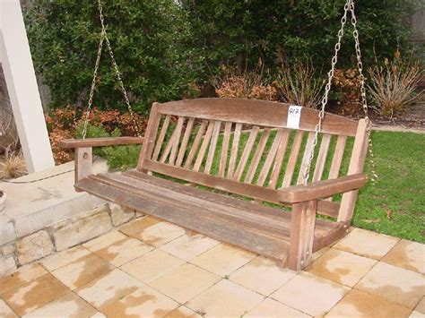 bench wooden swing bench contemporary wooden outdoor