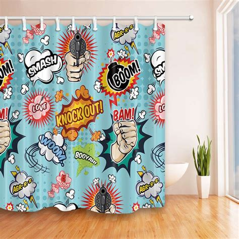 comic book curtains famous comic book shower curtain ideas of comic book
