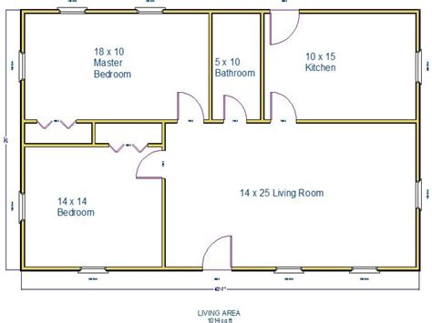900 Square Foot Floor Plans