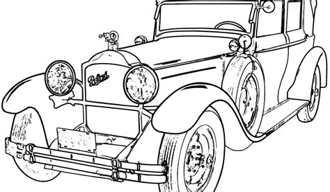 classic cars coloring pages for adults classic car drawings sketch coloring page