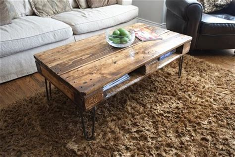 diy pallet coffee table legs 13 diy pallet tables with hairpin legs 1001 pallet ideas
