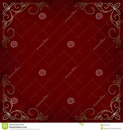 dekor muster dunkelrote karte mit muster und goldenem dekor lizenzfreie