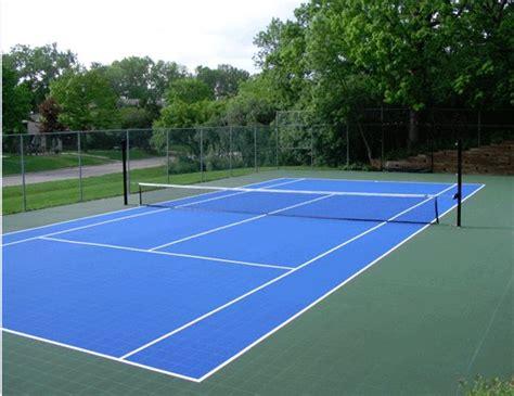 Backyard Tennis Court Dimensions Best Tennis Court Tiles Versacourt For Less