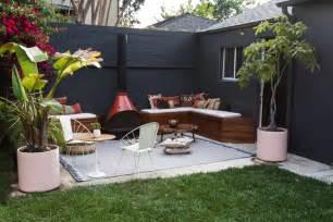 backyard lounge sherman samuel home progress patio diy built in