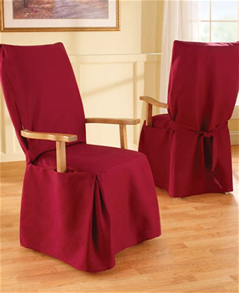 Dining Arm Chair Covers Sure Fit Duck Arm Dining Chair Slipcover Slipcovers For The Home Macy S