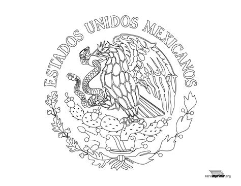 escudo bandera de mexico para colorear nocturnar escudo nacional de m 233 xico para colorear para imprimir