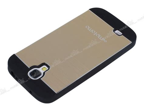 Galaxy S4 Metal By Motomo motomo samsung i9500 galaxy s4 metal gold silikon