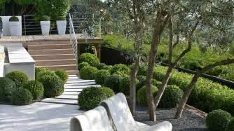 terrasse englisch terrasse blanche et bois niveaux garden