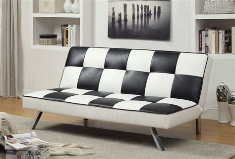 and white checkered sofa furniture of america checkered black white leatherette
