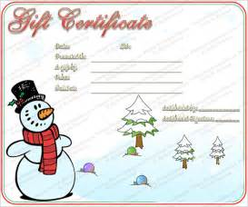 christmas gift certificate template 11 word pdf