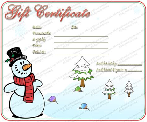 xmas award certificate ideas gift certificate template 16 word pdf documents free premium templates