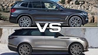 range rover velar vs sport 2018 bmw x3 vs 2018 range rover velar youtube